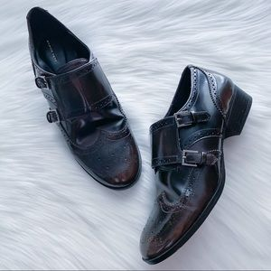 ZARA WOMAN Brogue Flat Shoes Dark Brown 38 / 7.5